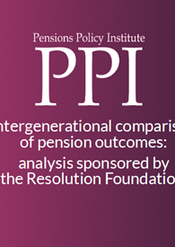 Intergenerational comparison of pension outcomes