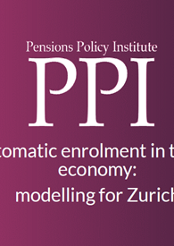 Automatic enrolment in the gig economy: modelling for Zurich