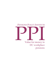 Value for money in DC workplace pensions