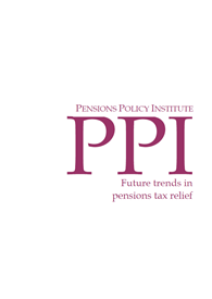 Future trends in pensions tax relief