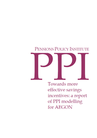 Towards more effective savings incentives: a report of PPI modelling for AEGON