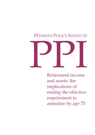 Retirement income and assets: the implications of ending the effective requirement to annuitise by age 75