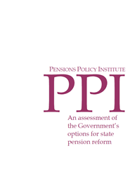 An assessment of the Government's options for state pension reform