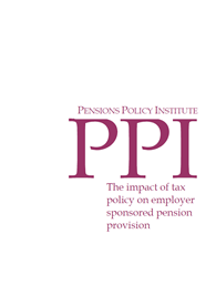 The impact of tax policy on employer sponsored pension provision