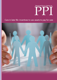 Care in later life: incentives to use assets to pay for care